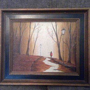 ORIGINAL OIL PAINTING BY ALBERT LE GRAND CANVAS